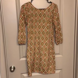 My Story 3/4 sleeve dress size S multi-colored